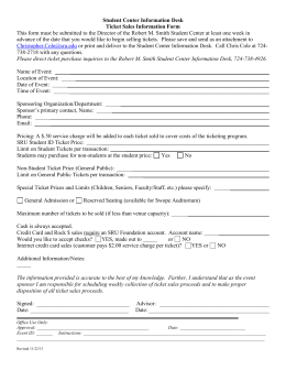 Ticket Sales Request Form