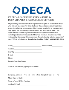 CT DECA LEADERSHIP SCHOLARSHIP