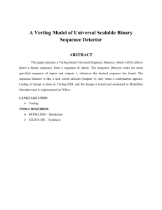 A Verilog Model of Universal Scalable Binary Sequence Detector