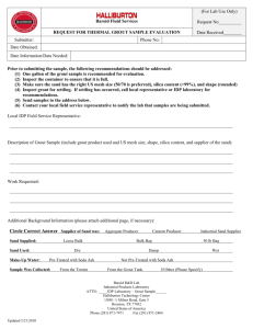 Thermal Grout Request Form