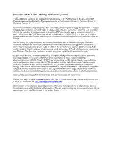 Postdoctoral Fellowship, Pharmacology, Burridge Group