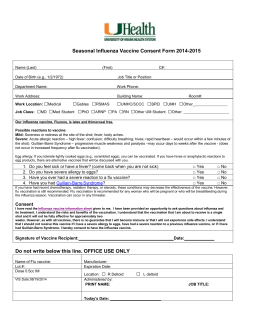 Influenza Vaccination Student Medical Exemption Request Form
