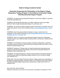 Skyline College Academic Senate Resolution Supporting the