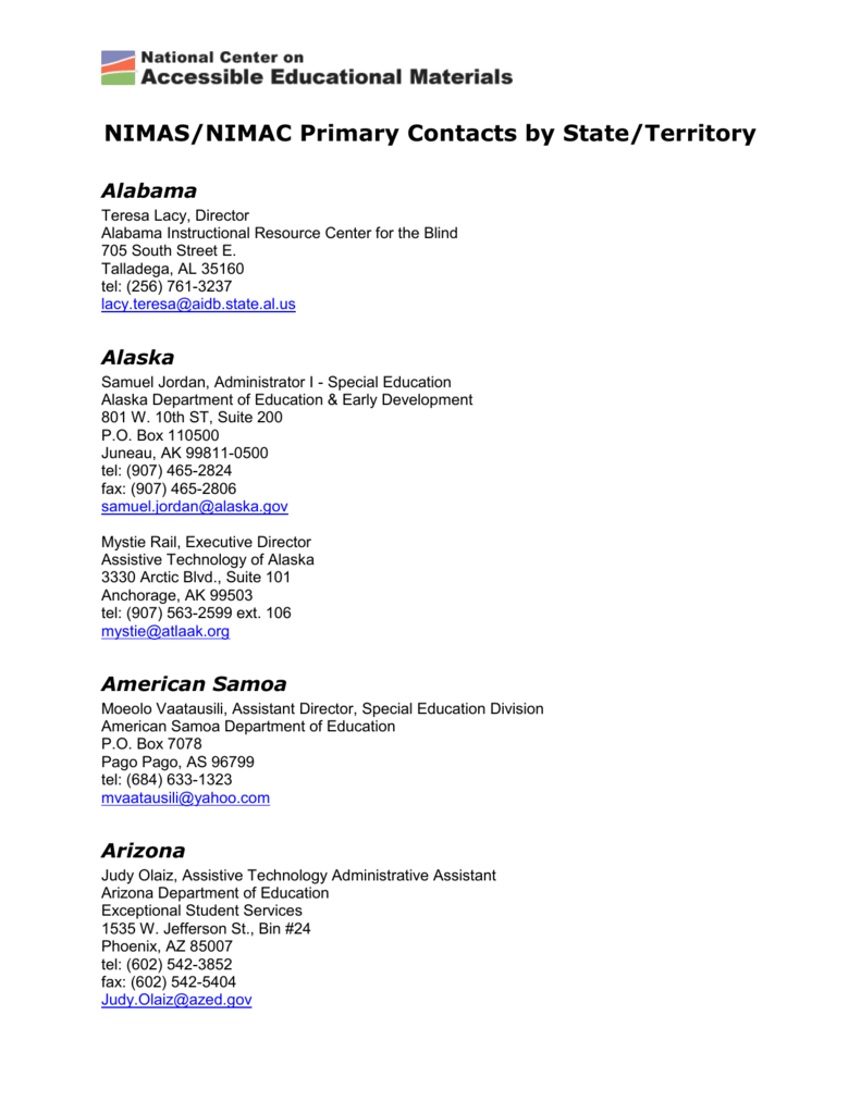 The List Of Aem State Contacts