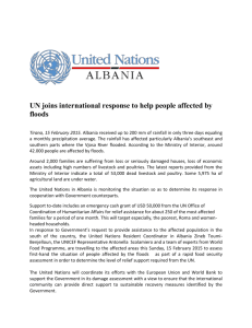 UN joins international response to help people affected by flood