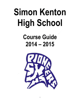 Course Guide 2014-2015 - Kenton County Schools