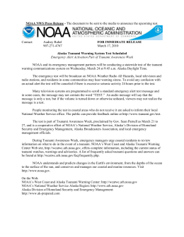 Press Release NOAA Tsunami Test Notification