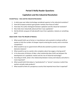Reilly Reader - Capitalism and the Industrial Revolution