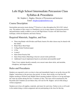 Intermediate Percussion Syllabus