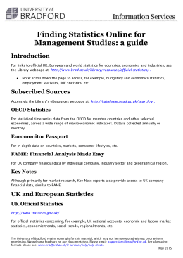 Finding statistics online for Management studies: a guide (docx, 68