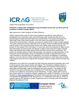 iCRAG PhD studentship TP4.2 PhD7 Prediction of deep