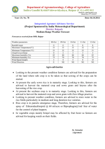 Raigarh-3(78) - Agricultural Meteorology Division