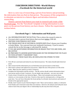 FARCEBOOK DIRECTIONS –World History