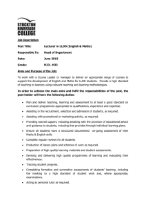 LLDD Eng Maths JD - Stockton Riverside College