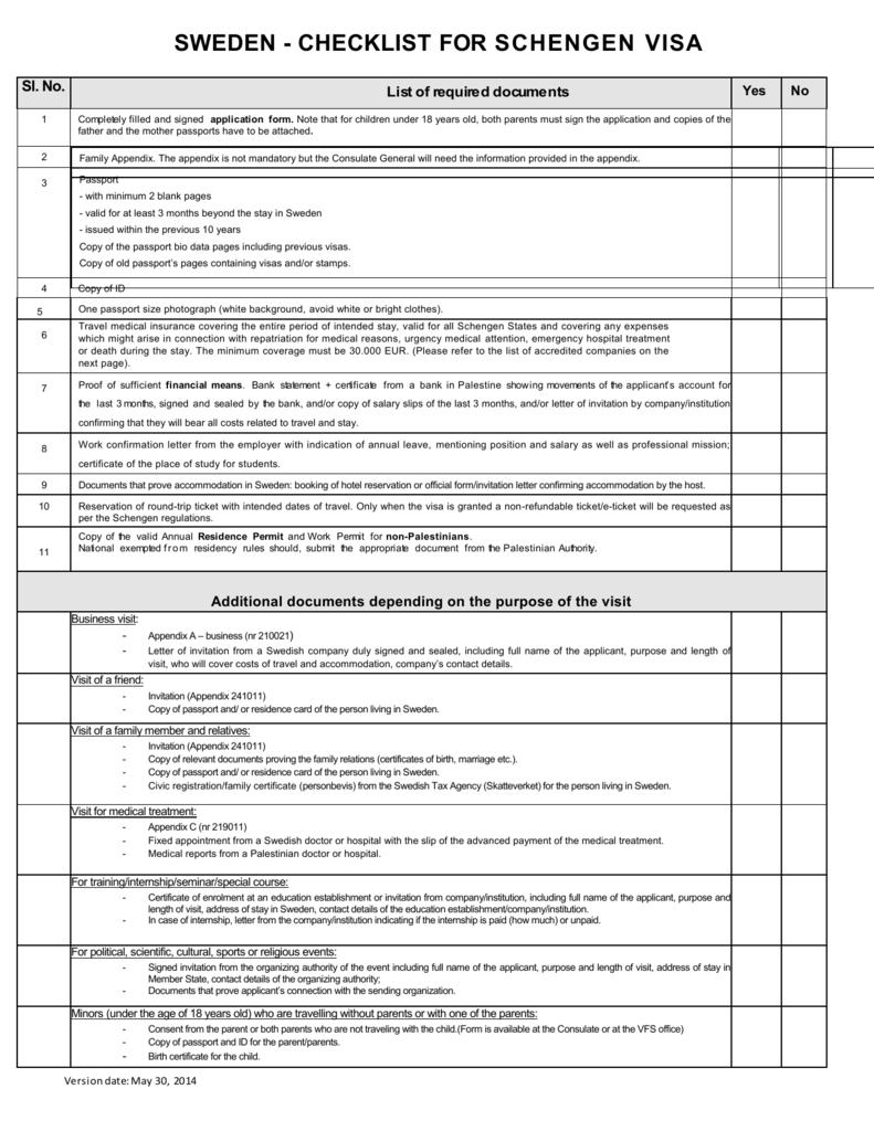 sweden embassy visa application form