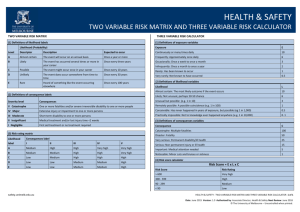 Two Variable Risk Matrix Three Variable Risk Calculator