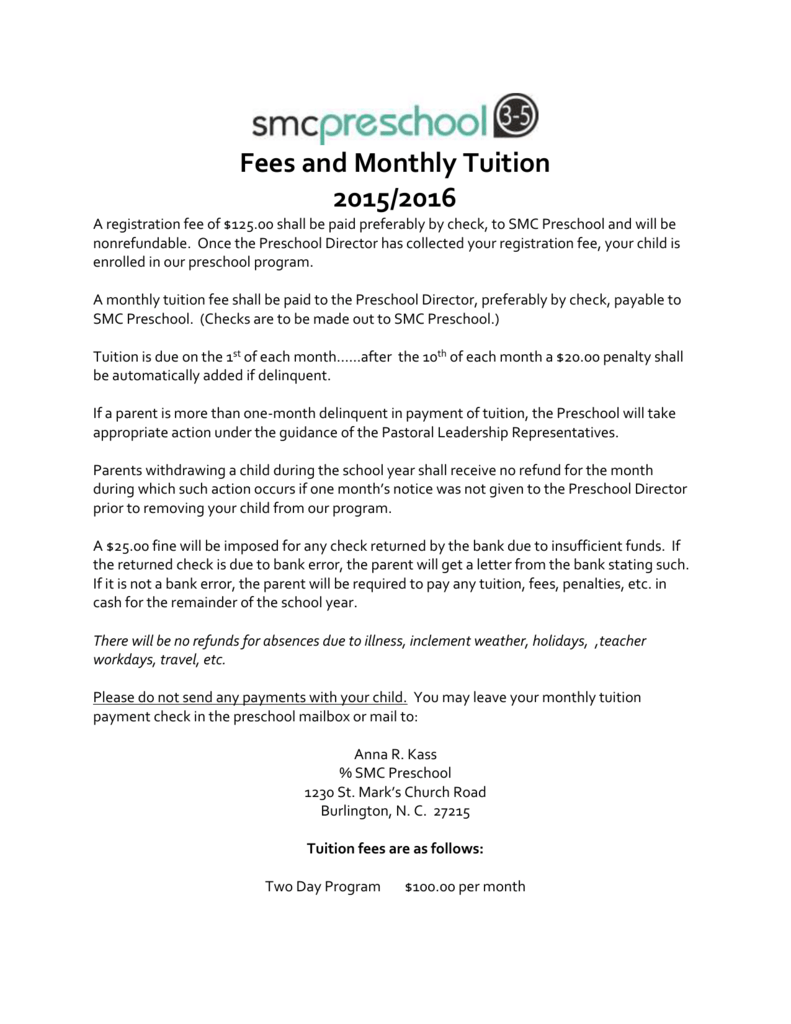 2015-16 Fees & Tuition