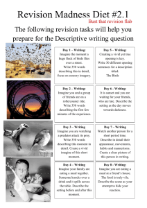 12 Days of Revisions – Descriptive writing more