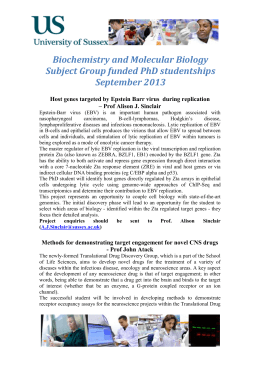 Biochemistry and Molecular Biology Subject Group funded PhD
