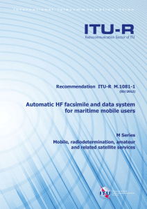 RECOMMENDATION ITU-R M.1081-1 - Automatic HF facsimile and