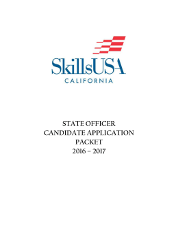 2016-17 State Officer Application Packet