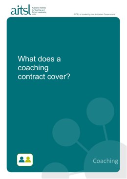 What does a coaching contract cover?