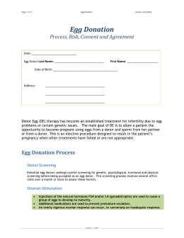 egg donor consent - Society for Assisted Reproductive Technology