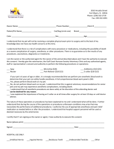 surgery consent form - Gulf Coast Humane Society