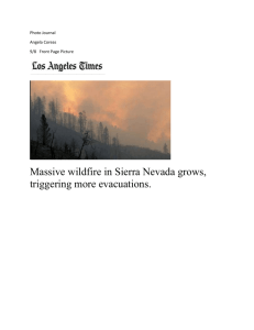 Massive wildfire in Sierra Nevada grows, triggering more evacuations.