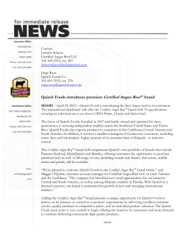 Quirch Foods introduces premium Certified Angus Beef ® brand