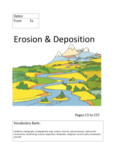 Erosion and Deposition Cover and Glossary