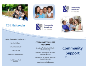 Community Support Program (CSP)