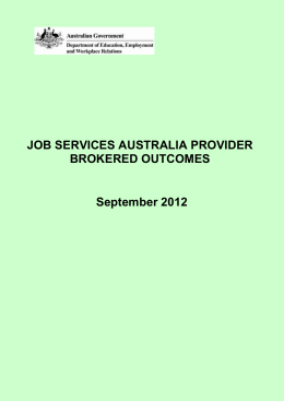 DOCX file of Jobs Services Australia Provider Brokered