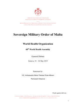 WORD - the Permanent Observer Mission of the Sovereign Order of