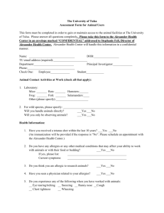 Health Assessment Form - The University of Tulsa