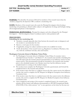Duke Standard Operating Procedure Template