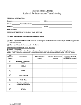 RtI Referral Form - Ithaca Public Schools