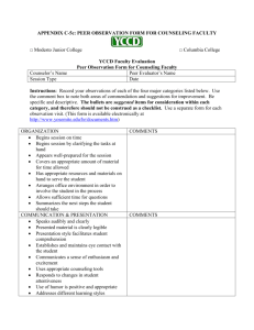 Peer Observation Form for Counseling