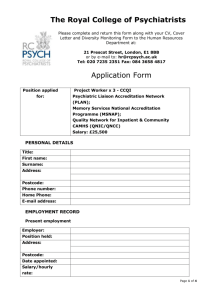 Application Form - Royal College of Psychiatrists