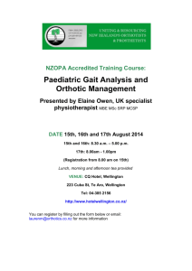 Paediatric Gait Analysis and Orthotic Management