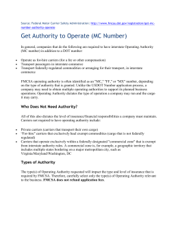 Get Authority to Operate (MC Number)