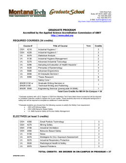 M.S. Industrial Hygiene Curriculum Worksheet