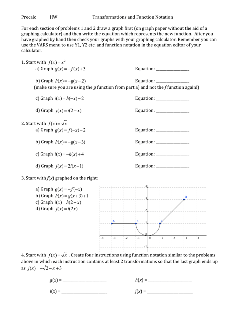 - Function Notation