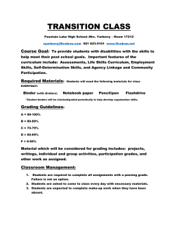 Syllabus Transition - Fountain Lake School District