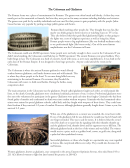 The Colosseum and Gladiators