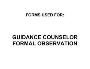 Formal Observation Forms for Guidance