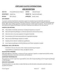 cortland plastics international job description