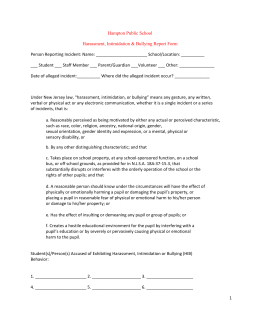 HIB Forms - Hampton Public School