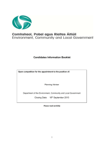 Planning Advisor - Booklet - Department of Environment and Local