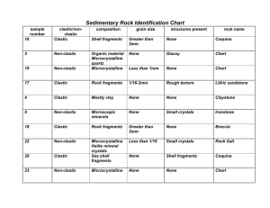 Related Doents Sedimentary Rock Identification Chart